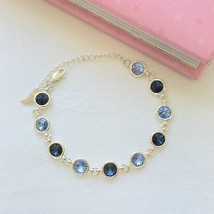 Dublin GAA Colours Inspired Sterling Silver Bracelet With Swarovski Crystals - Shuul