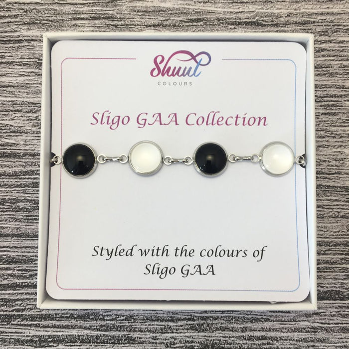Sligo GAA Ladies County Colours Cabochon Bracelet