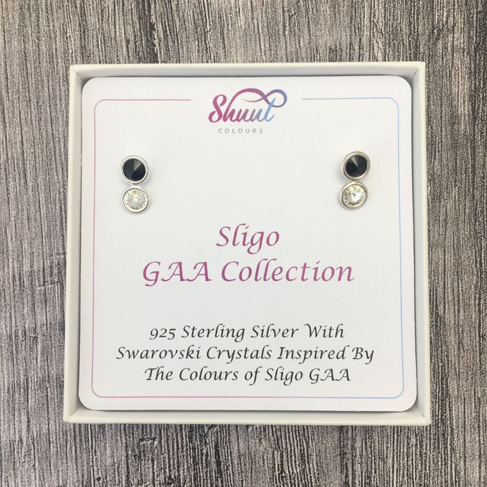 Sligo GAA Colours Sterling Silver Swarovski Earrings
