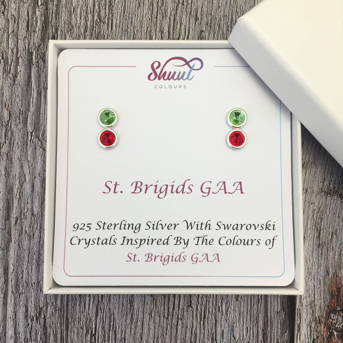 Create Your Own GAA Club Colours Sterling Silver Earrings