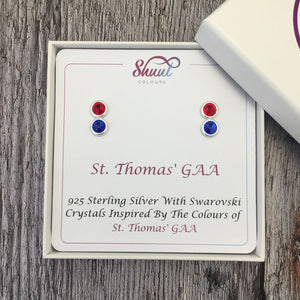 Create Your Own GAA Club Colours Sterling Silver Earrings - Shuul