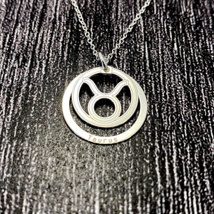 Taurus Star Sign Necklace Pendant