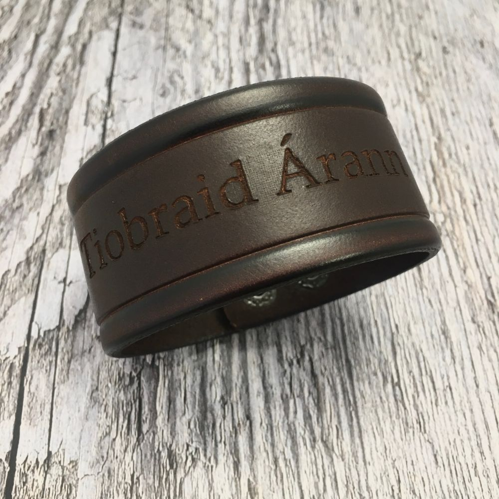 Tipperary GAA Leather Bracelet - Unisex