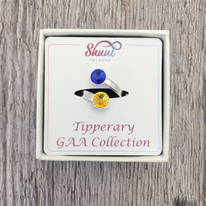 Tipperary GAA Sterling Silver Ring with Swarovski Crystals - Shuul