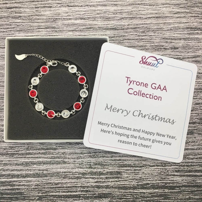 Tyrone Sterling Silver Bracelet with Christmas Message