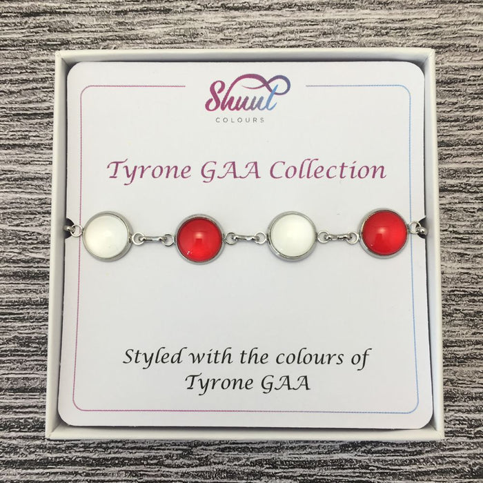 Tyrone GAA Ladies County Colours Cabochon Bracelet
