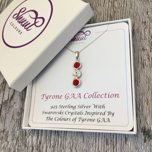 Tyrone GAA Colours Sterling Silver & Swarovski Pendant Necklace - Shuul