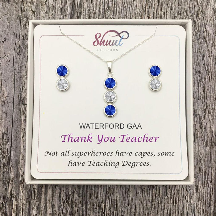 Thank You Teacher Gift - Personalised GAA County Colour Jewellery Gifts