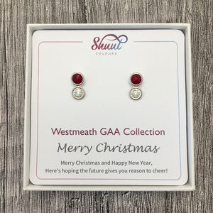 Westmeath GAA Earrings - Christmas Gift Set