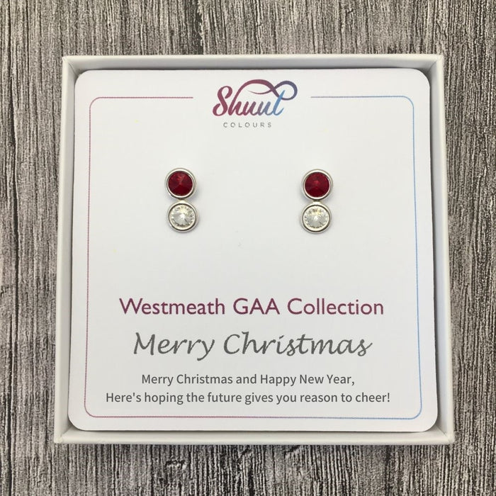 Westmeath GAA Stud Earrings Christmas Gift