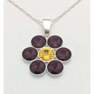 Wexford GAA County Colours 7 Drop Sterling Silver Pendant