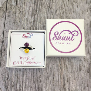 Wexford GAA Sterling Silver Ring with Swarovski Crystals - Shuul