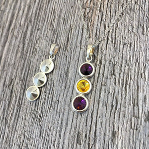 Wexford GAA Colours Sterling Silver & Swarovski Pendant Necklace