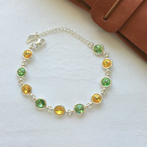 Kerry GAA Colours Inspired Sterling Silver Bracelet With Swarovski Crystals - Shuul