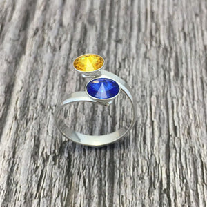 Roscommon GAA Sterling Silver Ring with Swarovski Crystals - Shuul