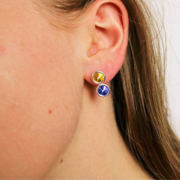 Roscommon GAA County Colours Inspired Sterling Silver Earrings - Shuul