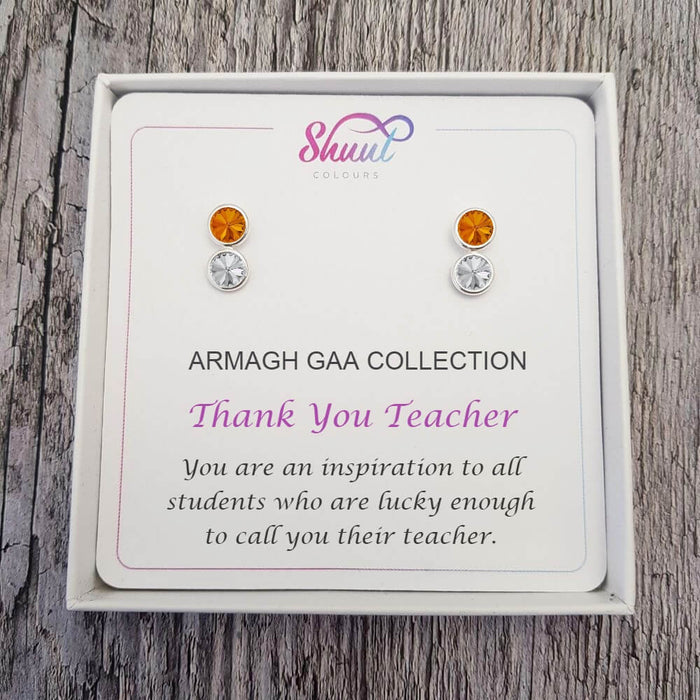 Thank You Teacher Gift - Personalised Gift Earrings