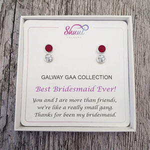 Personalised Bridesmaid Earrings - Gift Jewellery For Your Girls - Shuul