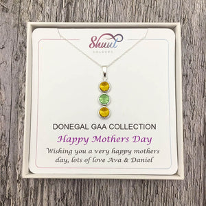 Mothers Day GAA Gift - Personalised GAA County Colour Necklace Gift - Shuul