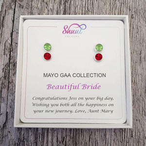 Personalised GAA Gift Earrings - Bridal Earring Gift Set - Shuul