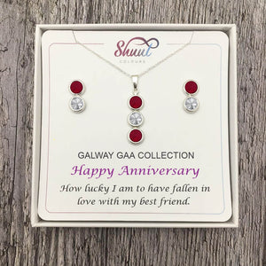 Anniversary Gift Set - Personalised GAA County Colour Jewellery Gifts - Shuul
