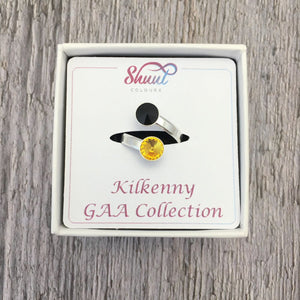 Kilkenny GAA Sterling Silver Ring with Swarovski Crystals - Shuul