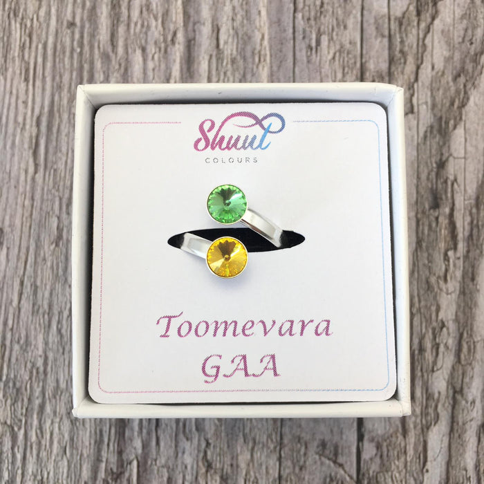 Create Your Own GAA Club Colours Sterling Silver Adjustable Ring