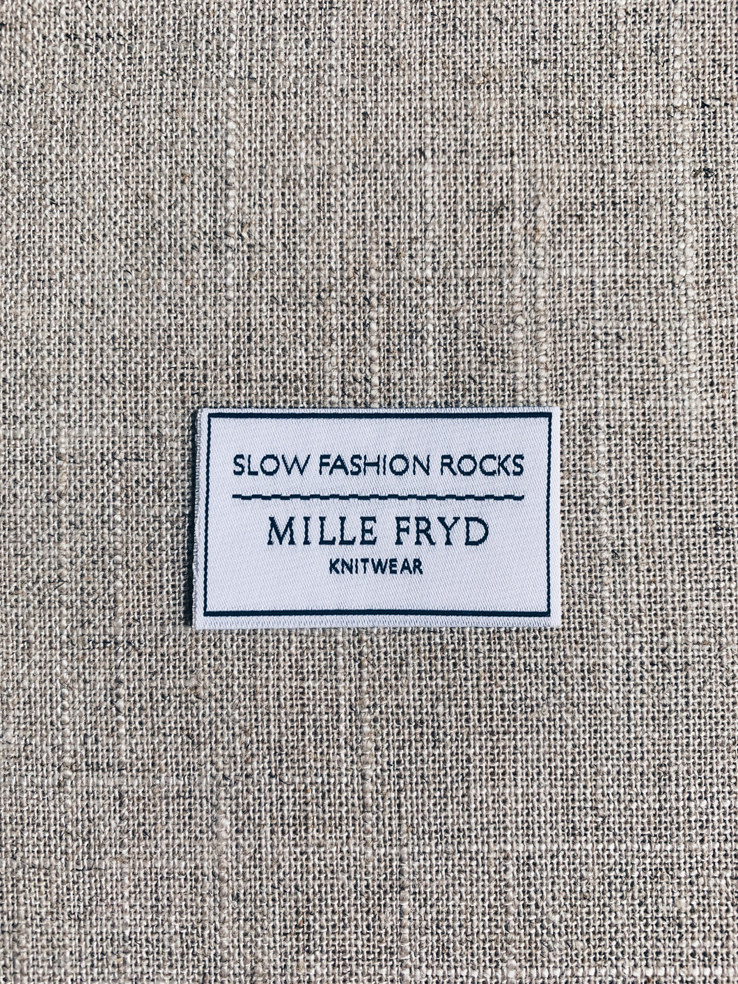 Slow Fashion Rocks - label