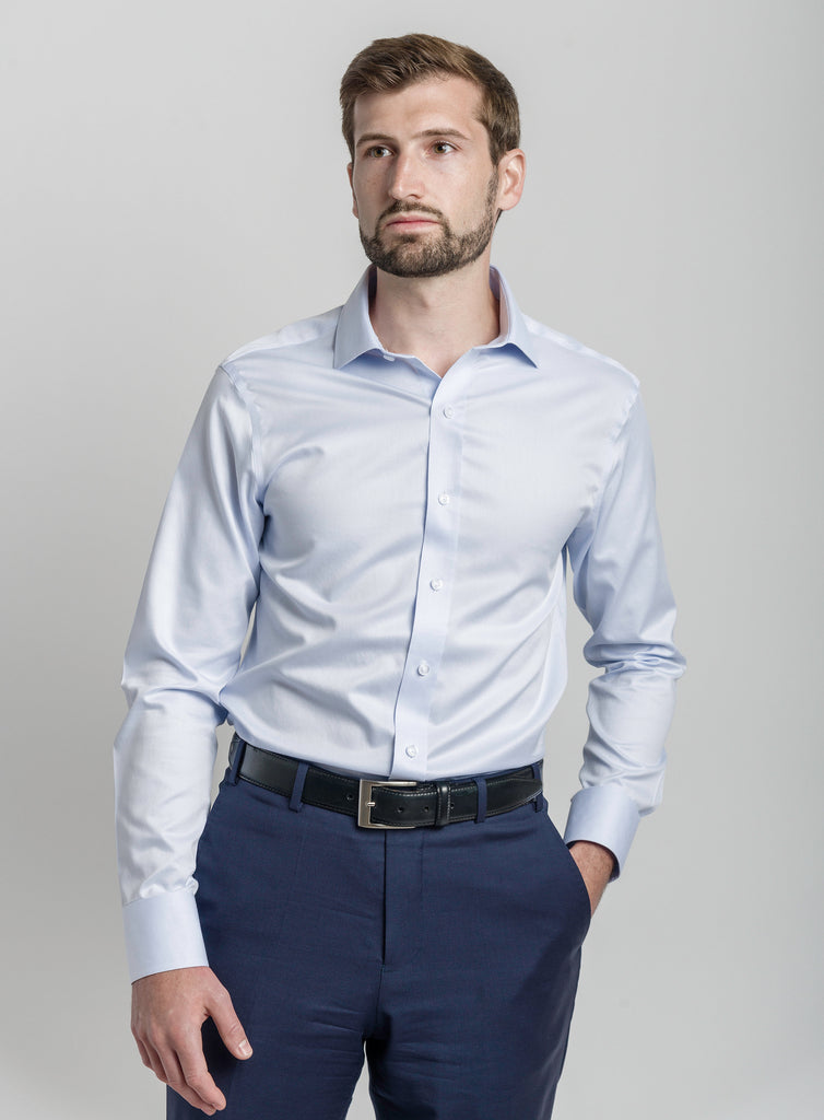Non-Iron Sky Blue Slim Fit - Napoleon & Company