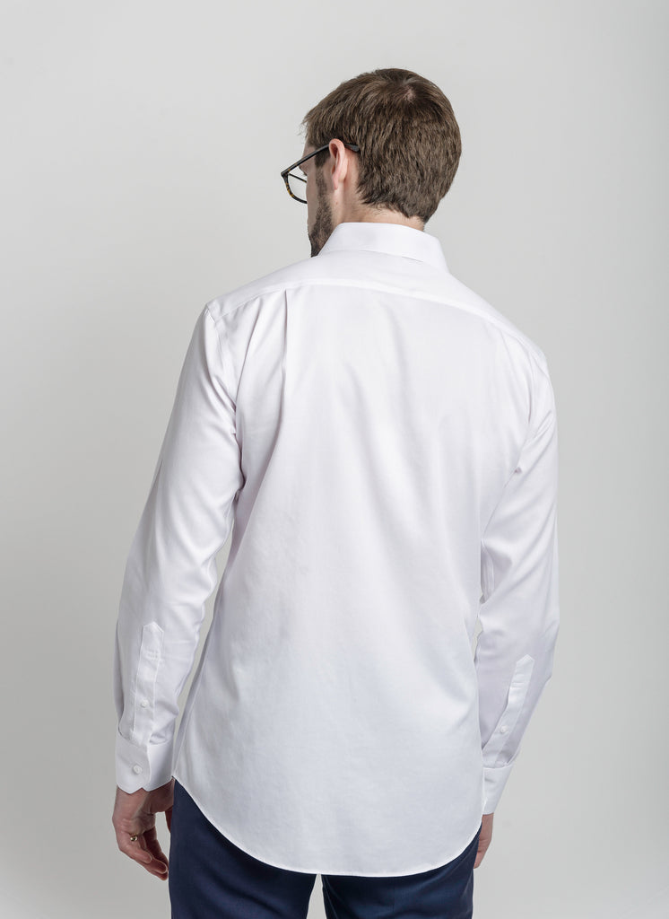 Non-Iron Pearl White Slim Fit - Napoleon & Company