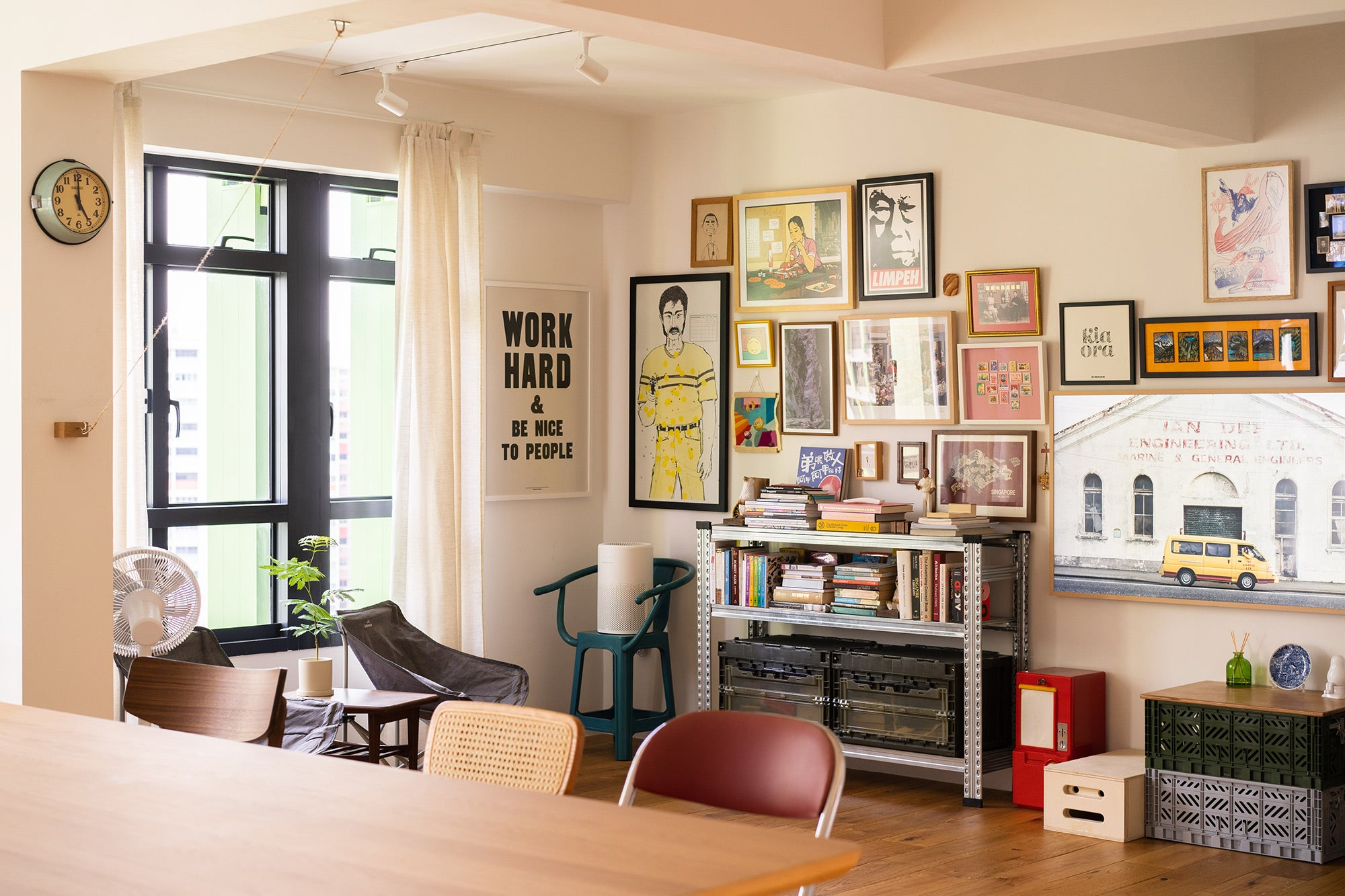 BTO Story Singapore Flat Apartment Interior Gallery Wall Ideas Inspiration Woody