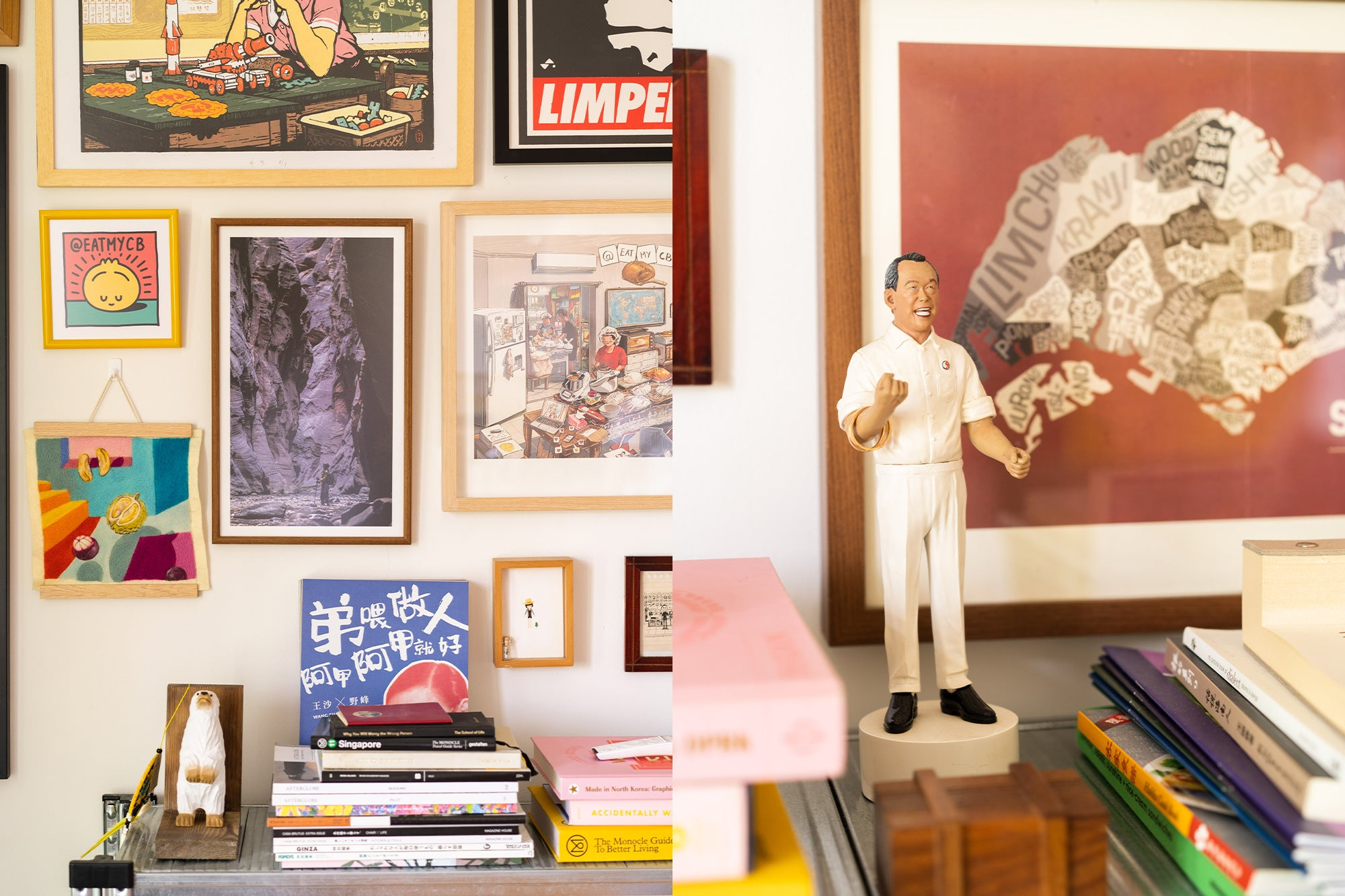 Singapore Local Artist Gallery Wall Interior Design Collector Collection