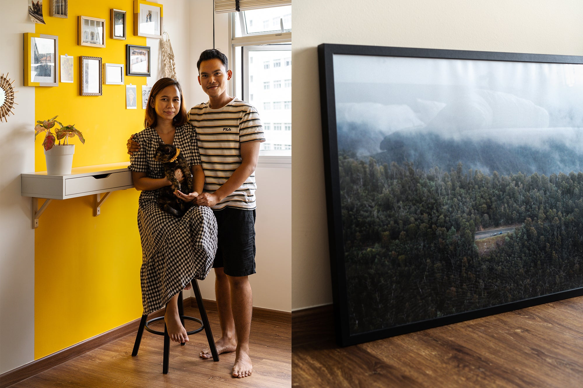 malay couple in modern four room bto singapore