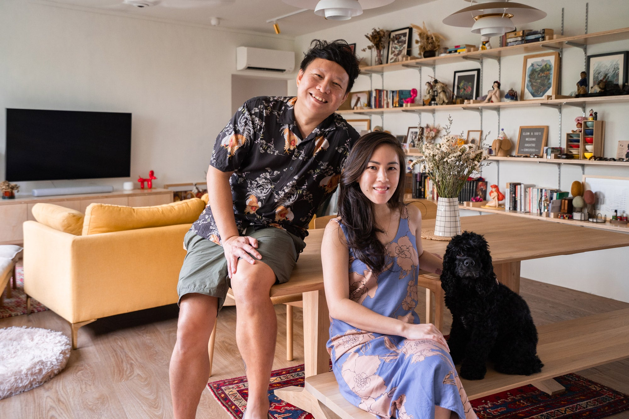 singapore couple in modern renovated resale home