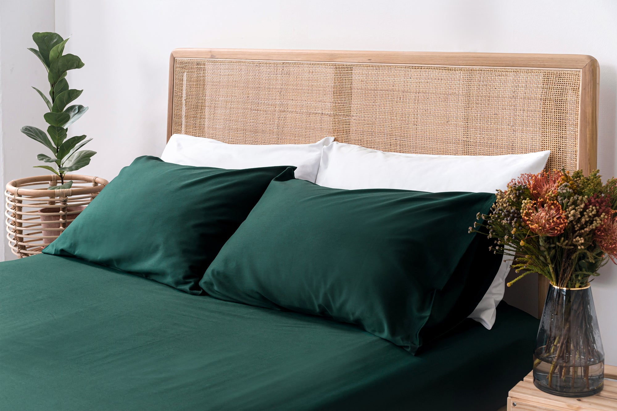 Luxury Organic Cotton Bedsheets Classic Forest Sheet Set Sojao
