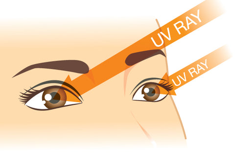 uv rays in the eyes