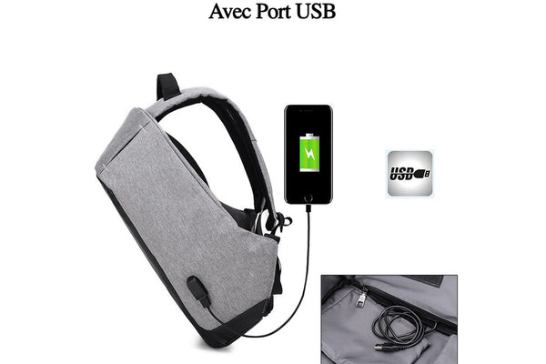 Sac à dos intelligent anti-vol avec Port USB - Europe Deal
