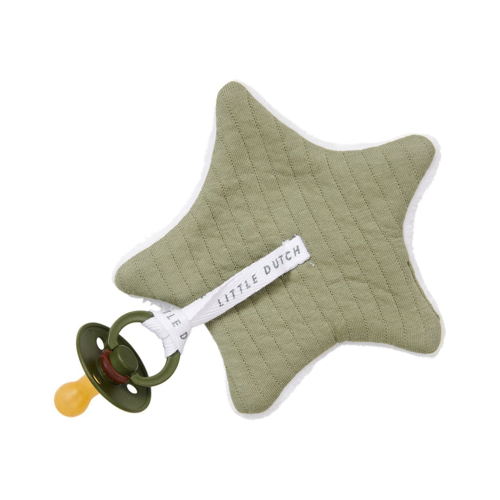 Pacifier holder pure olive Little Dutch Bib Little Dutch