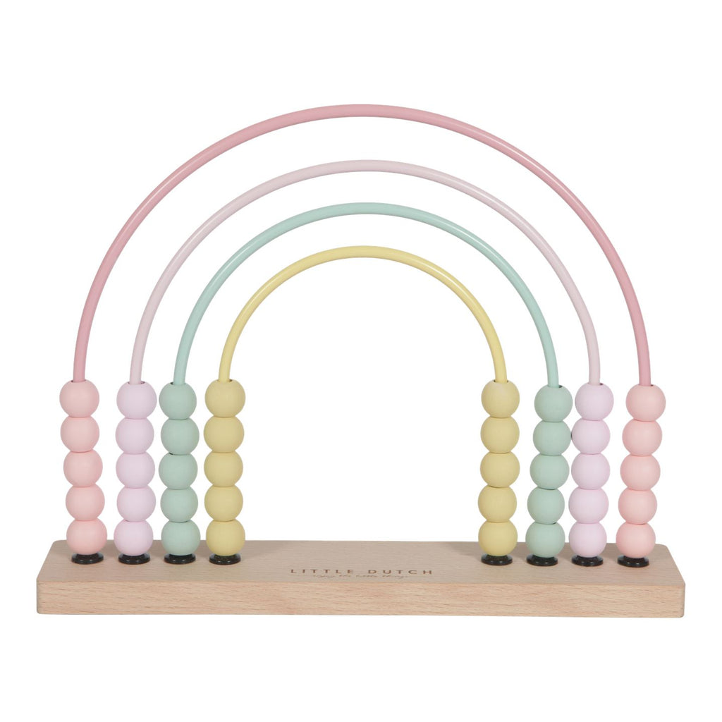 Rainbow abacus pink Little Dutch Toys Little Dutch