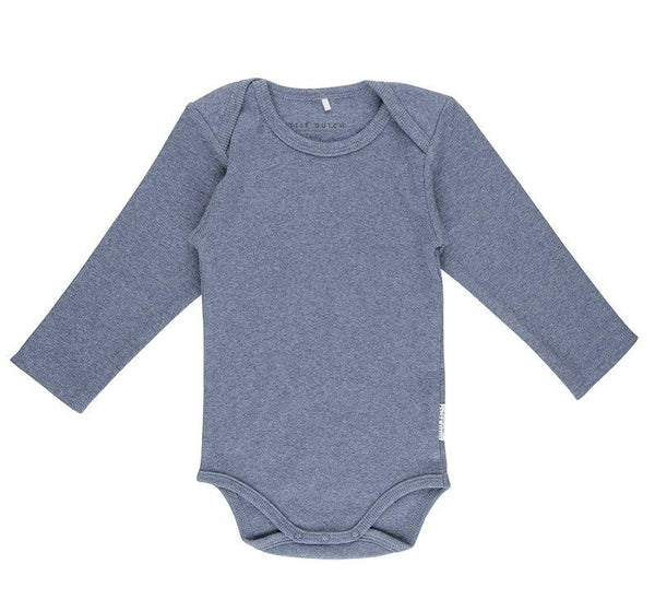 Body long sleeve blue melange Little Dutch Body Little Dutch