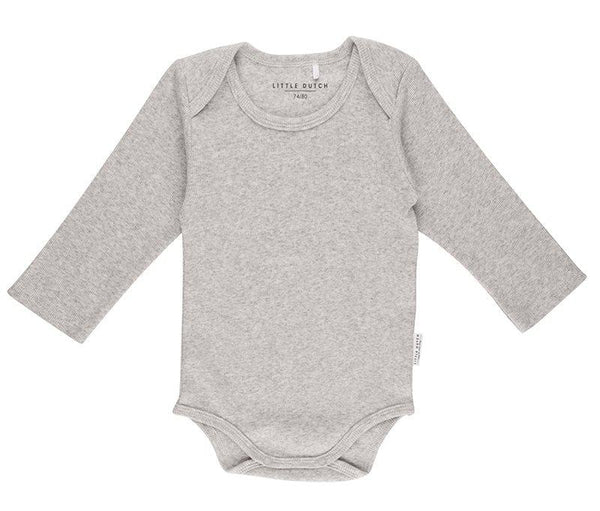 Body long sleeve grey melange Little Dutch Body Little Dutch