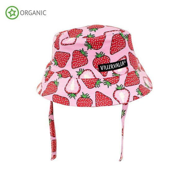 Sun hat with strings strawberry Villervalla Hat Villervalla