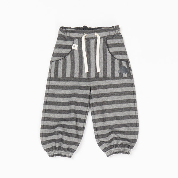Hillan baggy pants - phantom melange striped