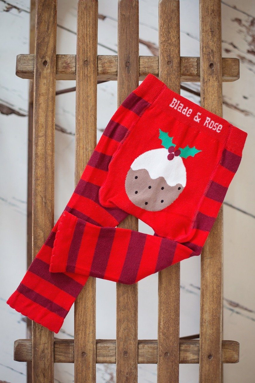 Christmas pudding leggings Bottoms Blade & Rose