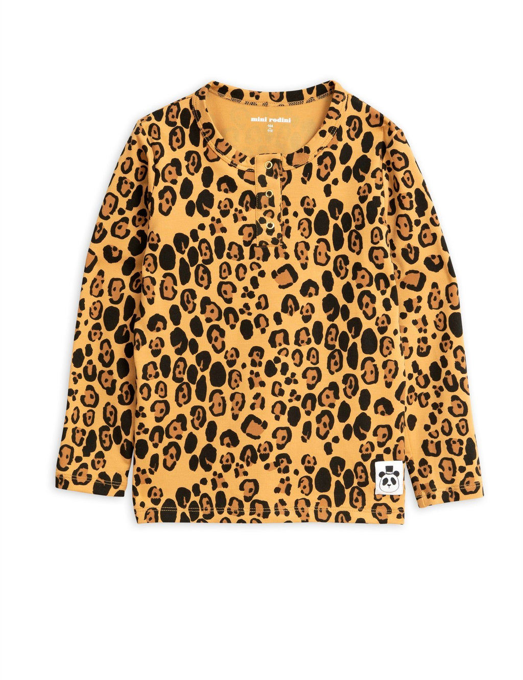 Basic leopard grandpa shirt Mini Rodini Tops Mini Rodini