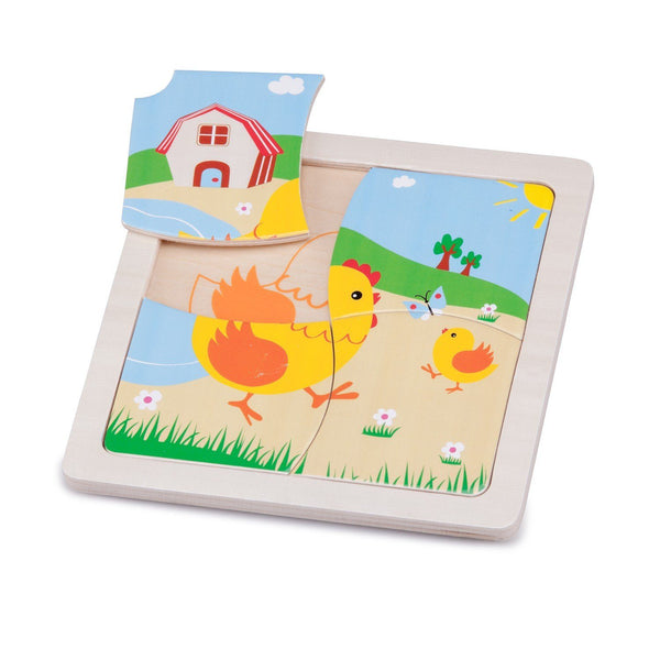 Mini puzzle chicken New Classic Toys Toys New Classic Toys