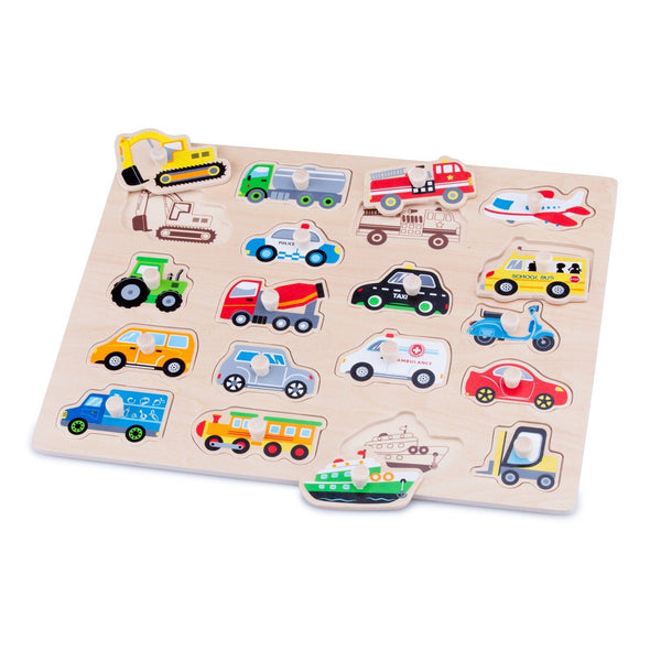 Vehicles peg puzzle New Classic Toys Toys New Classic Toys