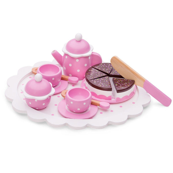 Tea/coffee set with cutting cake New Classic Toys Toys New Classic Toys