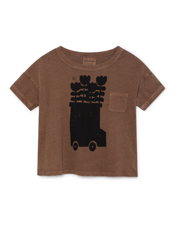Flower bus linen SS t-shirt Bobo Choses