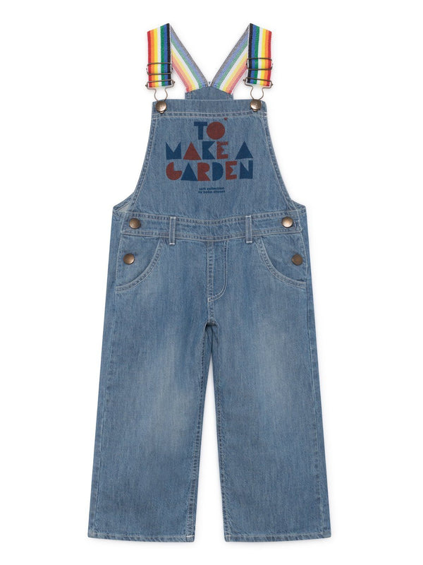 Geometric denim dungarees Bobo Choses